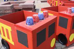 Firetruck made from a box
