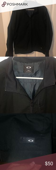 3093ee1340fd0 Men's Oakley Jacket Men's Black Oakley Jacket Size M / slim fit (see pic  with