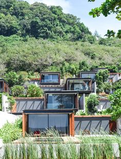 The Architectural Paradise – The Naka Phuket, Thailand Container Home Designs, Container Homes, Green Architecture, Architecture Design, Sustainable Architecture, Phuket Thailand, Phuket Resorts, Hillside House, Villa