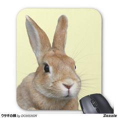 ウサギの顔 マウスパッド