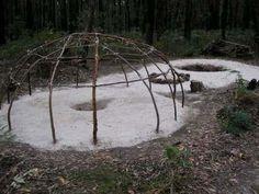 Diagram of Sweat Lodge (flattened) and the 16 Great Mysteries