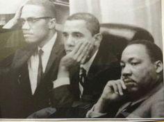 Obama, Martin Luther King, and Malcolm X Limited Edition T-shirt :https://blazingtshirts.com/shop/mens-t-shirts/obama-martin-luther-king-and-malcolm-x-t-shirt/