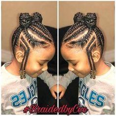 Black Hair Hairstyles, Little Girl Braid Hairstyles, Natural Hairstyles For Kids, Kids Braided Hairstyles, Teenage Hairstyles, School Hairstyles, Black Children Hairstyles, Trendy Hairstyles, Hairstyles 2018