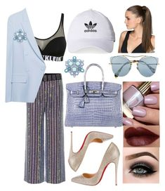 """Untitled #631"" by iamiuliaalbu on Polyvore featuring Calvin Klein, Gucci, SLY 010, Christian Louboutin, Hermès, Miu Miu, adidas and ASAP"