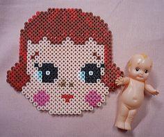 doll - puppe - hama perler beads