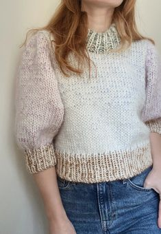 Sweater No. Crochet Stitch, Easy Crochet, Crochet Baby, Knit Crochet, Filles Alternatives, Chunky Knitwear, Mohair Yarn, Sweater Making, Cardigan Pattern
