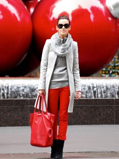 red with grey