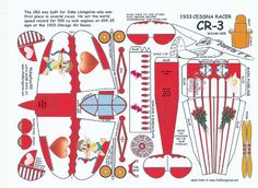 Celebrate Valentines Day with a Cessna CR-3 Racer! (Template and Instruction)