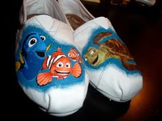 Custom Hand Painted TOMS Shoes  Finding Nemo by RyTee on Etsy. I WANT THESE!!!