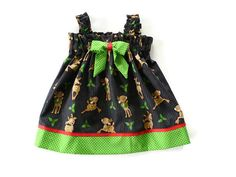 Girls Christmas dress baby Christmas dress by NaturalKidsClothing