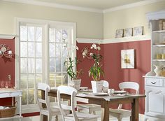 dining room paint colors with chair rail - Google Search | forever ...