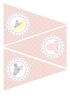 Banderas Babyshower niña