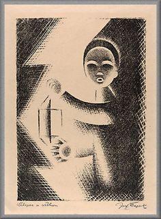 Josef Čapek - Chlapec se svítilnou Writers And Poets, Cubism, Painters, Modern Art, Scene, Graphic Design, Paper, Illustration, Art