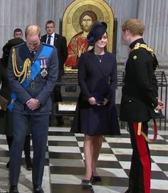 The Royals honour Britain's Afghan war heroes: Kate and William lead tributes to the 453 men and women who died fighting the Taliban at St Paul's memorial service, London, England March 13-15