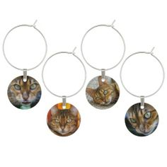 Bengal Cats - wine charms  #winecharms #cat #bengal #gifts