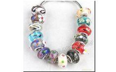 10 Perle Perline Beads Vetro Murano Collana Bracciali tipo Pandora Bigiotteria Lotto e Stock