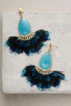 BLUE - Paonne Earrings from Anthropologie