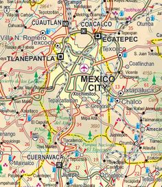 itmb mexico central region road map 1 travel