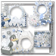 GJ-PU Cluster Penguin Dance FS : Scrap and Tubes Store, Digital Scrapbooking Supplies
