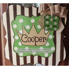 Personalized Prince Baby Sign For Hospital Door by SparkledWhimsy, $45.00