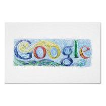 Google Doodle March 30, 2005 Vincent Van Gogh's B'day