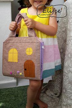 Мастерская Elifçe : Сумка дом для куклы /Bag doll-house