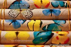 Manualidades con reciclaje: ordenar pañuelos, collares y cinturones con rollos de papel y gomillas - Inspiraciones: manualidades y reciclaje...