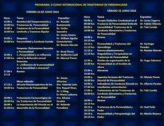 Asociación Psiquiátrica Peruana - II Curso Internacional de Trastornos de la Personalidad - 24 y 25 junio 2016
