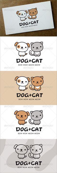 Dog + Cat Logo  #GraphicRiver