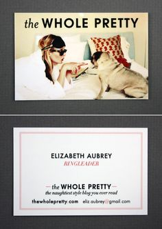 Photography Business Card by The Whole Pretty. love this concept.