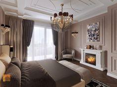 Фото интерьер спальни из проекта «Дизайн четырехкомнатной квартиры в стиле Ар-деко, ЖК Привилегия, 172 кв.м.»