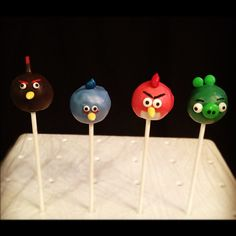 Angry Birds Cake Pops #angrybirds #cakepops