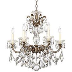 Schonbek La Scala Six Light Crystal Chandelier