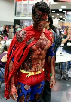 Uh oh...Super Zombie... i have a fealing u should have been super man zombie for halloween !!! @Leza Hoover Diers