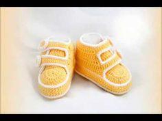 En Güzel Örgü Patikler- Erkek Bebek-Booties Knitting Patterns - YouTube
