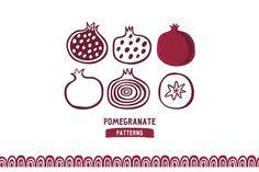 Hand Drawn pomegranate by dinaizer on @creativemarket