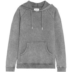 Zoe Karssen Faded cotton-blend jersey hooded top ($69) ❤ liked on Polyvore featuring tops, hoodies, sweatshirt, sweaters, jackets, grey, hooded tops, sweatshirt hoodies, gray top and zoe karssen