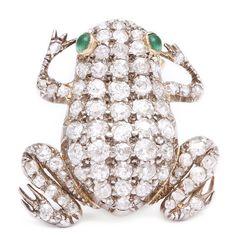 Antique Diamond Frog