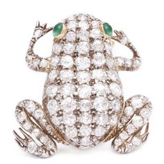Antique Diamond Frog