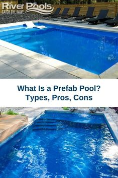 Want an inground pool that can be installed in just a few weeks? A prefab pool may be what you're looking for. This article explores prefab pool types, prices, pros, and cons to help you choose the best option for your home! #swimmingpools #ingroundpools #home