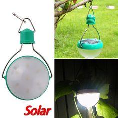 Portable, Waterproof Solar Outdoor 7 LED Camping Lantern - Hanging Lamp