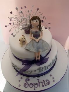 Purple and silver 21st birthday cake  Cake by Mel1204