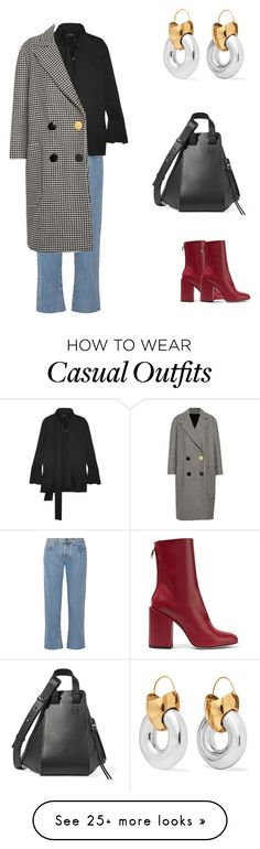"""""""C.A.S.U.A.L-"""" by nicole-hernandez-vi on Polyvore featuring Current/Elliott, Petar Petrov, E L L E R Y and Loewe"""