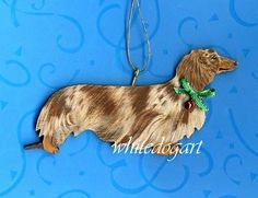 Custom dachshund Christmas ornament!