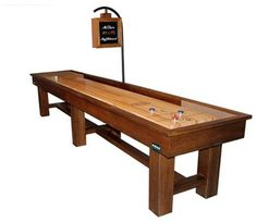 Ponderosa Shuffleboard Table by McClure Tables in Grand Rapids, MI. #MadeInMichigan #MadeInAmerica #Gameroom #ManCave