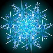 Christmas Mandala Prints - Snowflake II 2011 Print by Kathryn Strick
