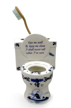 """Ceramic Toothbrush Holder (""""Use Me Well..)"""