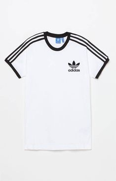 adidas California White & Black T-Shirt Addidas Shirts, Jean Outfits, Fashion Outfits, Fashion Trends, Adidas Outfit, Personalized T Shirts, Pull, Cool Shirts, Shirt Outfit
