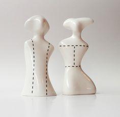 Porzellan-Set für Salz und Pfeffer von Barbara Sniegula auf DaWanda.com