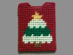 Christmas Tree Gift Card Holder plastic canvas by ShanaysCreation